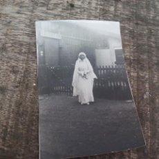 Fotografía antigua - Fotografía antigua de mujer vestida de novia. Foto - 51639668