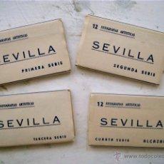 Fotografía antigua: SEVILLA, 12 FOTOGRAFÍAS ARTÍSTICAS - SERIE PRIMERA, SEGUNDA, TERCERA Y CUARTA - HELIOTIPIA - . Lote 52146137