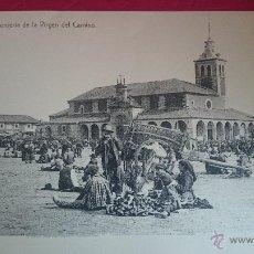 Fotografía antigua: LITOGRAFIA DE POSTAL ANTIGUA GRAN TAMAÑO 42X30 CM. VISTAS DE ROMERIA VIRGEN DEL CAMINO-LEON. Lote 52594653