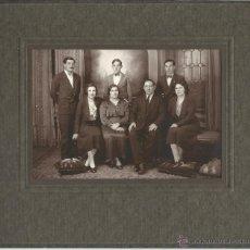 Fotografía antigua: EXTRAORDINARIA FOTOGRAFIA ANTIGUA DE UNA FAMILIA - FOTO TANDIL- AÑO 1910 - 20. Lote 52614540