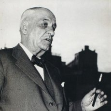 Fotografía antigua: NICOLAS MULLER. RETRATO DE JOSE ORTEGA Y GASSET. 1950 – 1960. TIRAJE DE EPOCA. VINTAGE. Lote 52933039