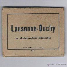 Fotografía antigua: 12 FOTOGRAFÍAS ORIGINALES LAUSANNE - OUCHY EDITION GUGGENHEIM & CO., ZURICH DEPOSÉ. Lote 53339498