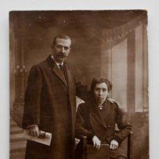Fotografía antigua: RETRATO DE MATRIMONIO EN ESTUDIO. Lote 53378783