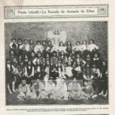 Fotografía antigua: EIBAR ESCUELA DE ARMERIA FIESTA INFANTIL ANTERIOR A 1919 (REFAI). Lote 53383734