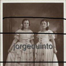 Fotografía antigua: RETRATO DE ESTUDIO. DOS HERMANAS. MURCIA, 25 DE MAYO DE 1935. MATEO FOTÓGRAFO. MURCIA.. Lote 53408108