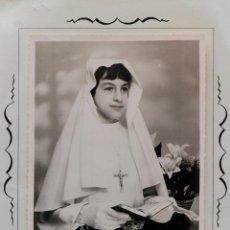 Fotografía antigua: NIÑA FRANCESA EN SU PRIMERA COMUNIÓN. EN CARPETILLA. STUDIO D´ART AUBRY, TARASCON.. Lote 53600223