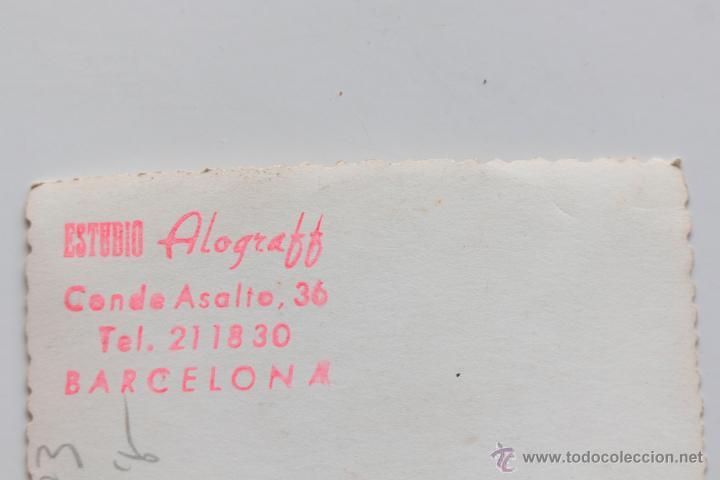 Fotografía antigua: Retrato de matrimonio en estudio. Estudio Alograff, Valencia. 8 x 12 cm - Foto 2 - 53601829