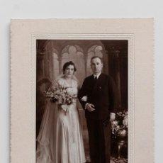 Fotografía antigua: RETRATO DE BODA DE UNA PAREJA MADURA. J. DERREY, VALENCIA 1931. Lote 53668815