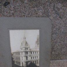 Fotografía antigua: LA CORUÑA - MAGNIFICA FOTOGRAFIA: AYUNTAMIENTO EN CONSTRUCCIÓN, APROX 1922/25 + INFO. Lote 53991053