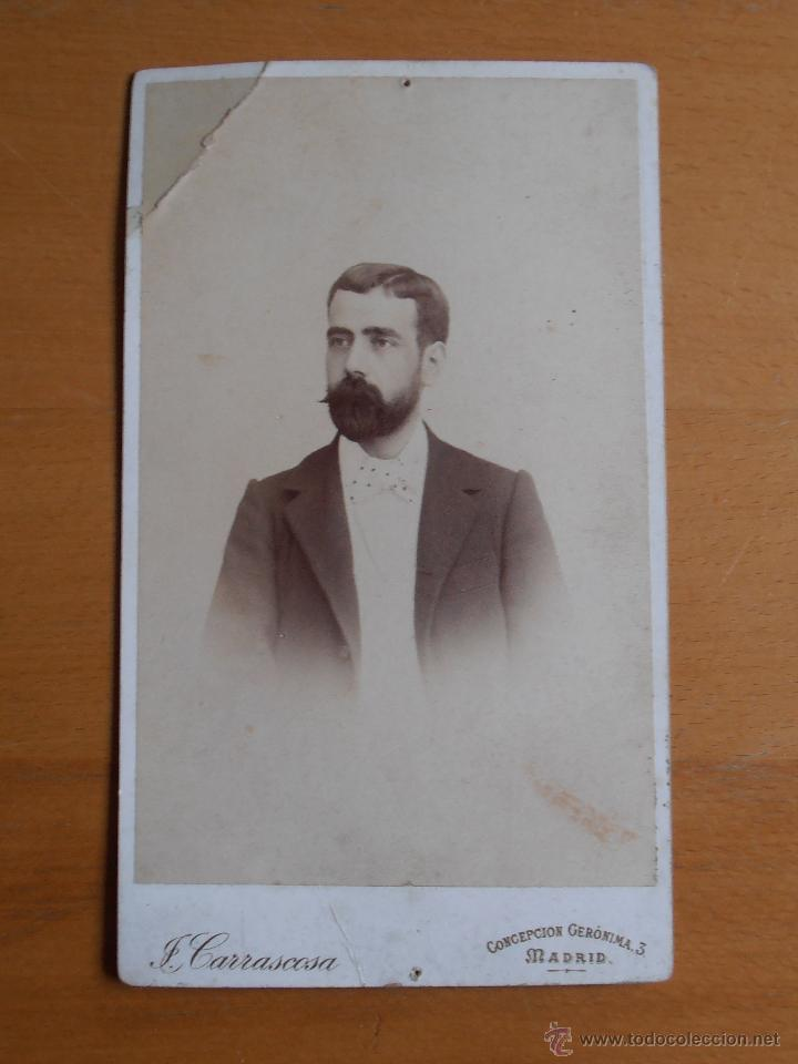 Fotografía antigua: FOTOGRAFIA ANTIGUA CARTON RETRATO CABALLERO BARBA J. CARRASCOSA 1895 CONCEPCION GERONIMA 3 MADRID - Foto 1 - 54015606