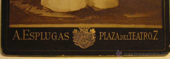 Fotografía antigua: FOTOGRAFIA PRIMERA COMUNION. A.ESPLUGLAS. PLAZA DEL TEATRO, 7. BARCELONA. 16 X 11 CM. - Foto 2 - 54027772