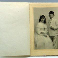 Fotografía antigua: FOTOGRAFÍA ARTÍSTICA KAULAK NIÑO NIÑA PRIMERA COMUNIÓN AÑOS 30. Lote 54030384