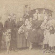 Fotografía antigua: FOTOGRAFÍA. SEÑORA EN BURRO, RODEADA DE FAMILIARES, ADULADORES, SIERVOS Y DEMAS. PPIOS. S. XX. CARA?. Lote 54116559