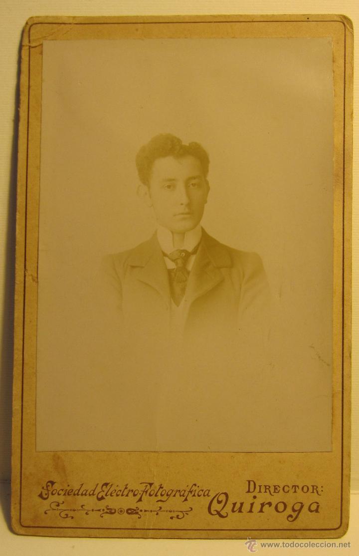 FOTOGRAFIA RETRATO HOMBRE (1899). FOT. A.M.QUIROGA. REAL, 86, LA CORUÑA. 16.50 X 11 CM (Fotografía - Artística)