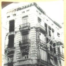 Fotografía antigua: VALENCIA - EDIFICIO CALLE DE LA PAZ - LOTE 12 FOTOS. Lote 54891745