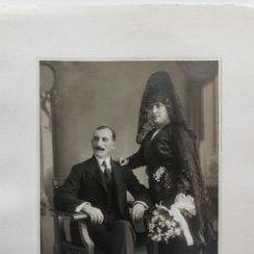 Fotografía antigua: DANIELA Y MARCOS. FOTO ROCA, MADRID 1920. Lote 55192888