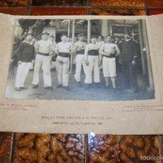 Fotografía antigua: ANTIGUA FOTOGRAFÍA DE MARINEROS - ECOLE DES MARINS TORPILLEUS & DES TIMONIERS T.S.F. - 1911. Lote 55316855