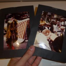 Fotografía antigua: LOTE 2 FOTOGRAFIA A ESTUDIAR, CON GENTE DISFRAZADA RARA. Lote 55574988