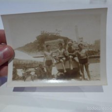 Fotografía antigua: ANTIGUA FOTOGRAFIA DE LA PLAYA DE MONGAT, MARESME, CATALUNYA. Lote 55575218
