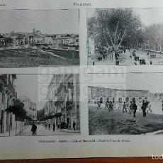 Fotografía antigua: LAMINA -- FIGUERAS GERONA GIRONA --AÑO 1912- (REF BD) 24.5 X 15,5 CM. Lote 56187254