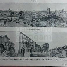 Fotografía antigua: LAMINA -- SORIA --AÑO 1912- (REF BD) 24.5 X 15,5 CM. Lote 56187648