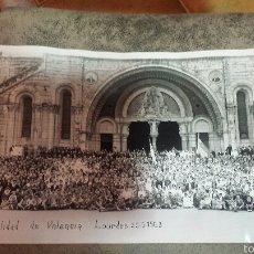 Fotografía antigua: XIX PEREGRINACIÓN DE LA HOSPITALIDAD VALENCIANA DE NUESTRA SEÑORA DE LOURDES 30 JUNIO 1963. Lote 56374333
