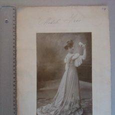 Fotografía antigua: ANTIGUA FOTOGRAFIA, RETRATO DE GRAN TAMAÑO - POR HENRI MANUEL - PARIS -AÑO 1906... R-2297. Lote 56472176