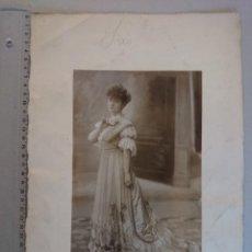 Fotografía antigua: ANTIGUA FOTOGRAFIA, RETRATO DE GRAN TAMAÑO - POR HENRI MANUEL - PARIS - AÑO 1906... R-2298. Lote 56472894