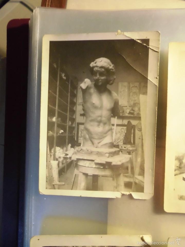 Fotografía antigua: escultura procede valencia firma o escrito salvador taller de salvador tuset adquiridas en valencia - Foto 2 - 56983247