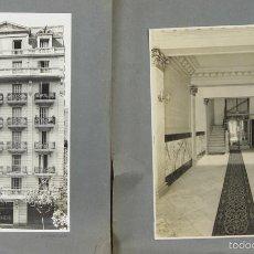 Fotografía antigua: FO-017. PAREJA DE FOTOGRAFIAS DE ARQUITECTURA MODERNISTA. J. VERDAGUER. CIRCA 1930.. Lote 57318640