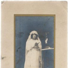 Fotografía antigua: EXTRAORDINARIA FOTOGRAFIA ANTIGUA-NIÑA 1ª COMUNION-FOTO DE CORUÑA DEL 16 - 8 - 1921. Lote 57560979