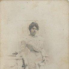 Fotografía antigua: EXTRAORDINARIA FOTOGRAFIA ANTIGUA DE UNA DAMA -FOTO -ANTONI Y EMILIO- NAPOLEON - BARCELONA DE 1906. Lote 57617040