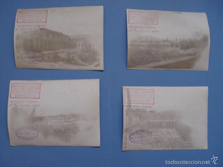Fotografía antigua: 4 fotografías antiguas: Albelda de Iregua -La Rioja- (Aransay, 1929) 17x13 cms. ¡Originales! - Foto 2 - 57804616