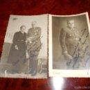 Fotografía antigua: 2 FOTOS ESTUDIO CAPITAN NACIONAL CONDECORADO SABLE BANDA VICTORIA PLACA S. HERMENEGILDO Y SU MUJER. Lote 57960827