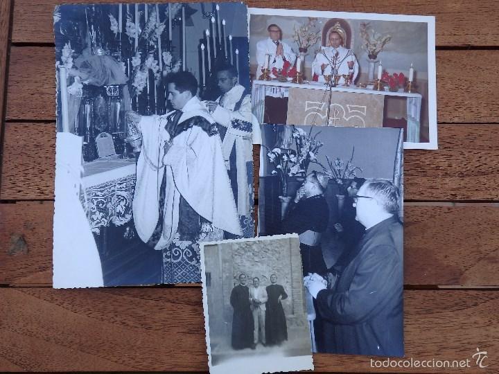 LOTE DE CINCO FOTOGRAFIAS RELIGIOSOS ,SACERDOTES (Fotografía - Artística)
