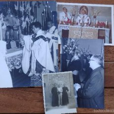 Fotografía antigua: LOTE DE CINCO FOTOGRAFIAS RELIGIOSOS ,SACERDOTES. Lote 57999163