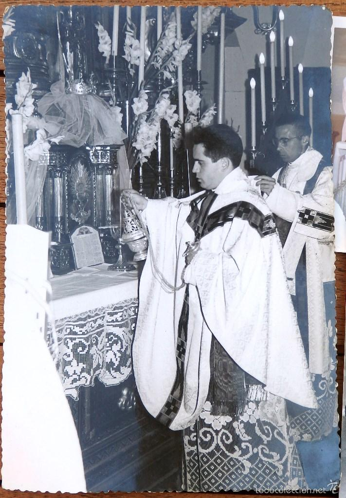 Fotografía antigua: LOTE DE CINCO FOTOGRAFIAS RELIGIOSOS ,SACERDOTES - Foto 4 - 57999163