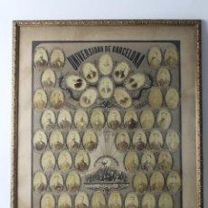 Fotografía antigua: B- 244. GRAN ORLA FACULTAD DE FARMACIA, UNIVERSIDAD DE BARCELONA. CURSO 1879 - 1880. 1M. X 73 CM.. Lote 58141266
