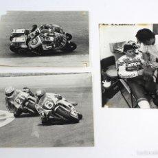 Fotografía antigua: FG-542. LOTE 3 FOTOGRAFIAS ORIGINALES MOTOCICLISMO, AÑOS 80. FORMATO: 24 X 17'5 CM.. Lote 58141976