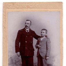 Fotografía antigua: FOTO CABINET - ESTUDIO FOTOGRÁFICO. JULIAN. FERROL.(CORUÑA). CON DEDICATORIA. MEDIDAS 14 X 9,5 CM. Lote 58159886