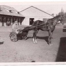 Fotografía antigua: FOTOGRAFÍA COCHE DE CABALLOS. MEDIDAS 6,5 X 9,5 CM. Lote 58159987