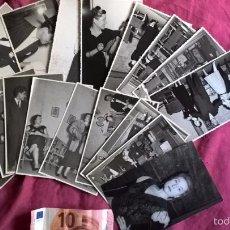 Fotografía antigua: TEATRO. ISABEL TORTAJADA (VALENCIA). LOTE DE 17 FOTOS. ENGUÍDANOS FOTÓGRAFO. 1956. Lote 58209129