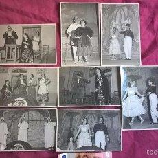 Fotografía antigua: VALENCIA. 8 FOTOS DE TEATRO. ISABEL TORTAJADA. ENGUIDANOS FOTÓGRAFO. 1955. Lote 58209334