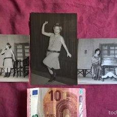 Fotografía antigua: VALENCIA. 3 FOTOS DE TEATRO. 1963. ISABEL TORTAJADA. ENGUIDANOS FOTÓGRAFO. Lote 58209359