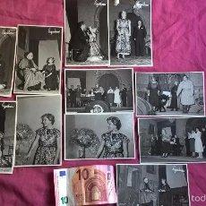 Fotografía antigua: VALENCIA. 11 FOTOS DE TEATRO. ISABEL TORTAJADA. ENGUIDANOS FOTÓGRAFO. Lote 58209404
