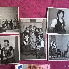 Fotografía antigua: VALENCIA. 5 FOTOS DE TEATRO. ISABEL TORTAJADA. ENGUIDANOS FOTÓGRAFO. 1955. Lote 58209412