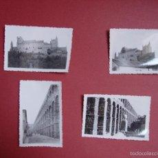 Fotografía antigua: 4 FOTOGRAFÍAS ANTIGUAS: SEGOVIA (ACUEDUCTO, ALCÁZAR, 1958) ¡ORIGINALES! COLECCIONISTA. Lote 58264468