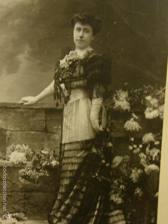 Fotografía antigua: Fotografía retrato mujer de pie vestido fiesta aristocracia española ppios S XX fotgf Kaulak - Foto 2 - 58326568
