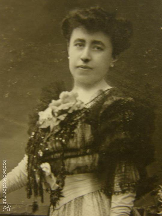 Fotografía antigua: Fotografía retrato mujer de pie vestido fiesta aristocracia española ppios S XX fotgf Kaulak - Foto 3 - 58326568