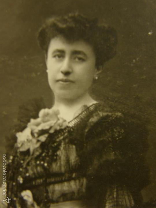 Fotografía antigua: Fotografía retrato mujer de pie vestido fiesta aristocracia española ppios S XX fotgf Kaulak - Foto 4 - 58326568